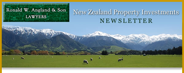 Anglands New Zealand Property Investments Newsletter